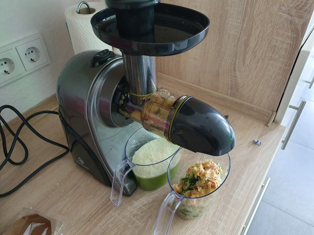 Saftausbeute Nutrilovers Slow Juicer