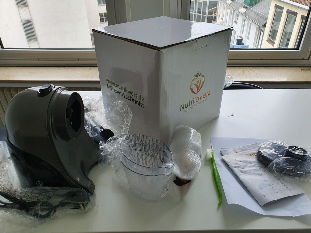 Nutrilovers Slow Juicer Ausstattung
